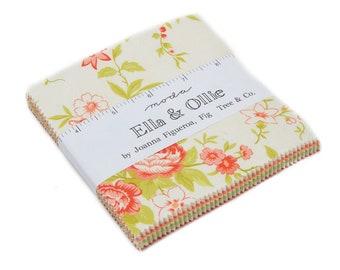 Ella and Ollie Charm Pack - Fig Tree Charm Pack -  Moda Charm Pack - Fig Tree Fabric