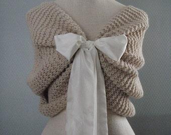 Bridal accessories, wedding accessories, Weddings shawl, Handmade flower, bridal shawl, bridesmaid gift, summer wedding, fabric shawl, knit