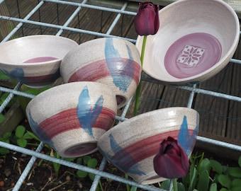 Textured pattern mini bowls