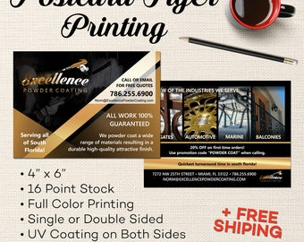 Printed Postcard Flyers - All Inclusive Postcard Printing - Printing Services - Large Sizes & Quantities Available - FREE SHIPPING