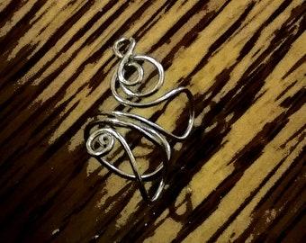 Silver Swirls Ear Cuff