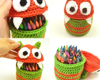 Monster Container - PDF Crochet Pattern - Instant Download