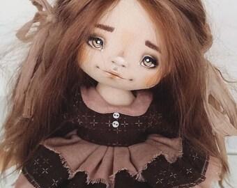 Poupée d'Art Textile à la main, poupée Textile, textile Art Dolls, textile de poupée à la main, poupée de chiffon, poupée de collection, poupée intérieur