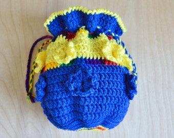 Drawstring Bag - Festival Bag - Medicine Bag - Hippie Bag - Boho Bag -Hippie Festival Purse - Boho Handbag - Sack Bag