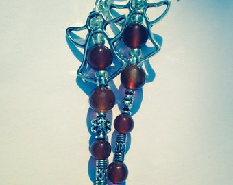 ArchAngel Selaphiel: Wings of Prayer Faceted Carnelian Angel Cross