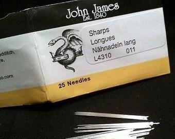 John James Sharps Needles, #11, Pack of 25