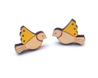 Yellow Bird Earrings