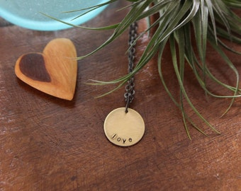 custom circle . my soul mantra necklace