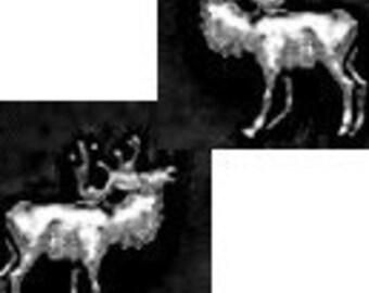 Elk Stud Earrings Sterling Silver Free Shipping