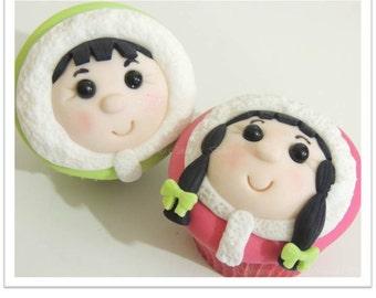 Christmas Boy and Girl Cupcakes