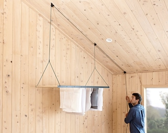 George & Willy Hanging Drying Rack - Black