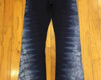 Large Adult Tie Dyed Yoga Pants - American Apparel brand liquid tie dyed yoga pants