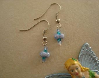 Earrings blue girl