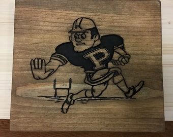 Purdue Carved Wood Sign