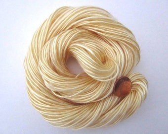 Handspun Yarn Hand-dyed Golden 1-ply Lace-weight Tencel