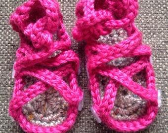 Baby Button Gladiator Sandals
