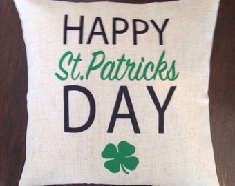 Happy St Patricks Day pillow cover