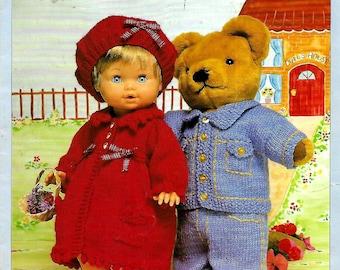 SIRDAR Best of Friends 267 Original Vintage Doll Knitting Pattern Booklet
