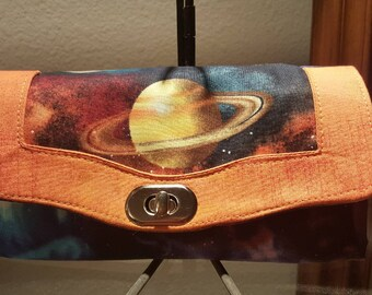 Saturn themed, colorful Wallet
