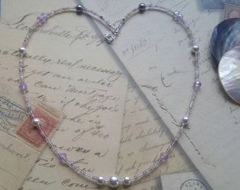 25Inch Necklace W/AustrianCrystals+CrystalPearls