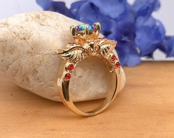 Gothic Skull 10k Gold Filled Ring Sz 8