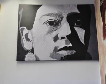 Frida Kahlo portrait artist finished print from original painting With