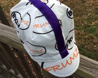 FRUMZ/BKLYN cycling cap,crown,lid,dome piece, handmade, bicycle,FrumzFarm,Blessed