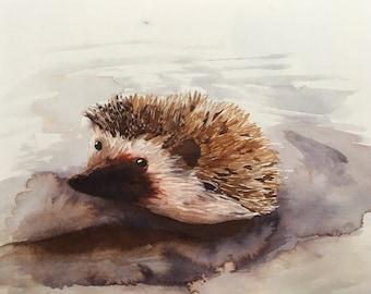 Hedgehog ink print