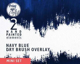 Watercolor clipart brush strokes, watercolor brushstrokes clipart OVERLAY,hand painted clipart border,overlay,indigo background, navy shape,