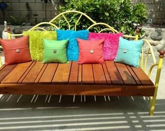 Repurposed Day Bed Garden Bench