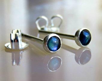 3mm Stud Earring For Men - Sterling Post Earrings - Mens Jewelry - Mens Earring - Gift For Him