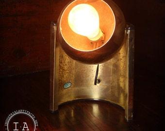Vintage Mid Century Modern Gold Eyeball Orb Table Lamp
