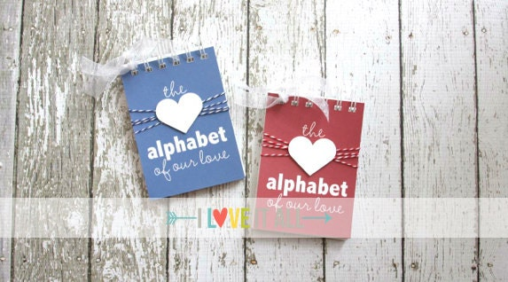 Alphabet of our love anniversary gift love letters what i love