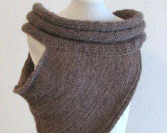PDF knitting  pattern  - Katniss cowl inspired  - size  S - M/l - XL