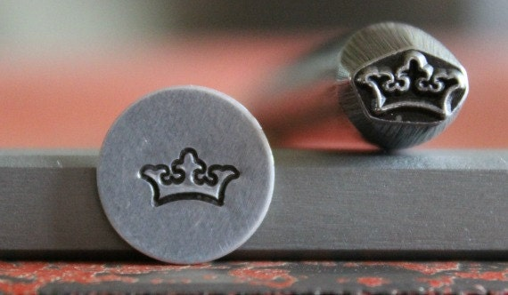 Kings Crown Metal Design Stamp Metal Stamp Metal Stamping and