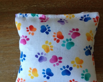 Handmade White Paw Print Catnip Cat Toy