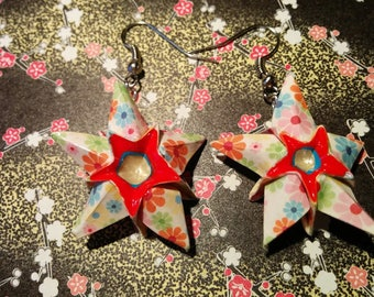 """Stars"" (ET_009) flower pattern earrings"