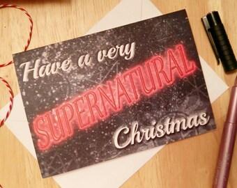 A Very Supernatural Christmas - Supernatural - SPN - Seasons Greetings - Christmas Card