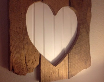Barn Wood Heart frame