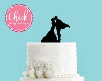 Superhero Couple in Love Acrylic Wedding Cake Topper