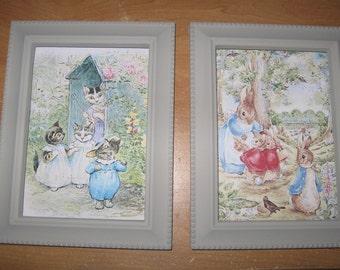Beatrix Potter Peter Rabbit and Tom Kitten Framed Prints