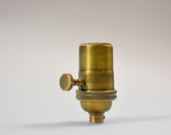 Antique  Brass 3 Way Socket