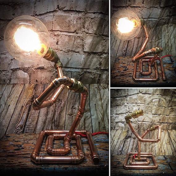 Spiral Copper pipe lamp