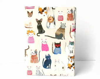 Cat iPad Mini 2 case, iPad Mini 4 cover, Gift for her, Cute clutch bag, padded tablet sleeve, Pink women girls Gift