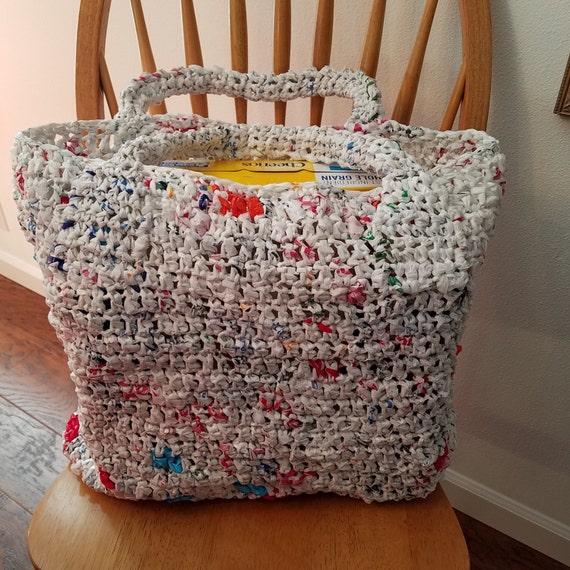 Plarn bolsa de bolsas de plástico bolso del mercado bolsa de
