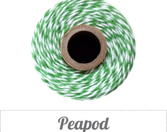 10 yards/ 9.144 m Peapod Green and White Bakers Twine