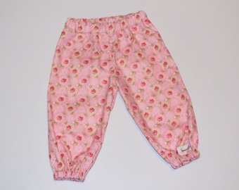 Harem Pants Floral Pink Size 1, roses, peony, flower, girls clothing, baby clothing, gifts under 30, childrens clothing