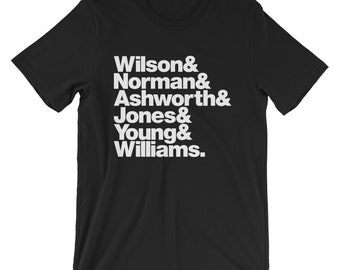 Personalised Band Line-Up Mens/Unisex T-Shirt (Ships from USA + Europe)