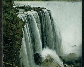Niagara Falls New York Postcard GOAT ISLAND Lithograph Unused 1901-1907