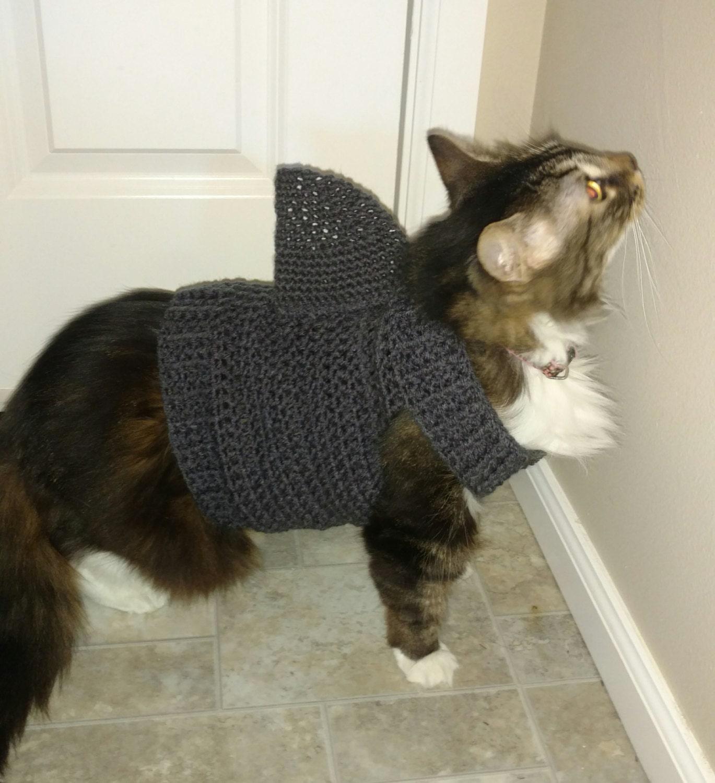 Cat Shark Sweater Cat Shark Outfit Cat Costume Cat Sweater